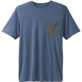 Prana Pocket Camiseta Hombre, azul